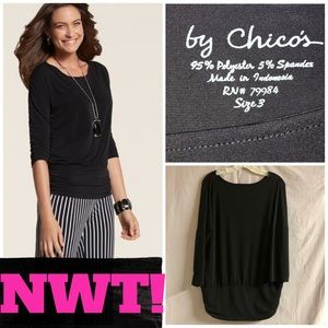 🖤NWT! CHICO'S WILLOW WIDE BAND TOP🖤